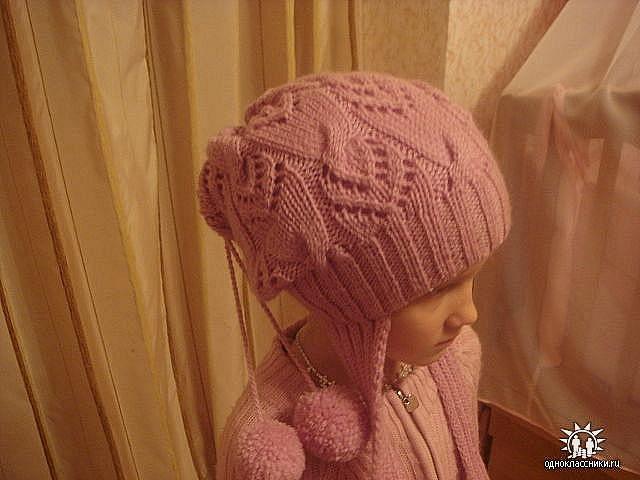 узоры для шапок спицами.