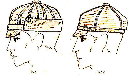 Мужская вязанная кепка крючком с отворотом.  Начните вязание с макушки.