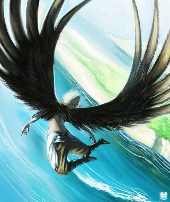 Картинки девушек с крыльями как у птиц