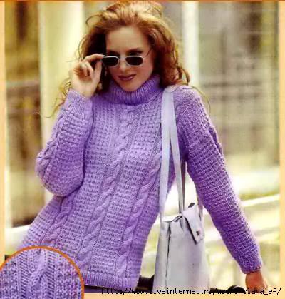 Вязание спицами схемы модели свитер женский.