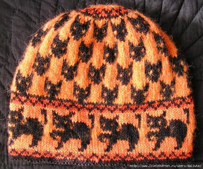 Вязания шапки с ушами.