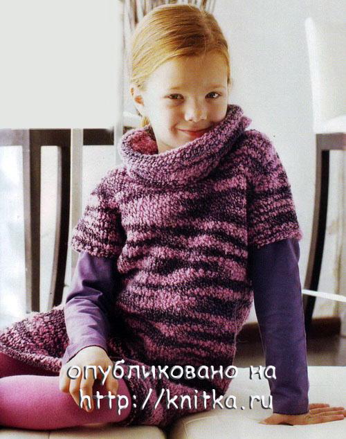 Прочитать целикомВ.  Вязаное платье для девочки- с сайта http://knitka.ru.
