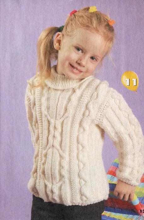 вязание спицами свитер для девочки.