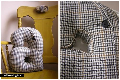 Подушечный алфавит из старых пиджаков. фото 3 :: ГИГАМИР.