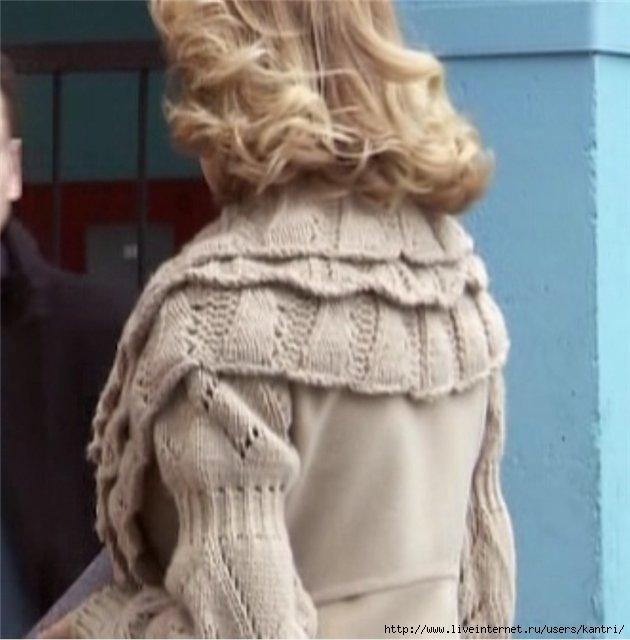 Идея.Знаменитости в вязаном-пальто.