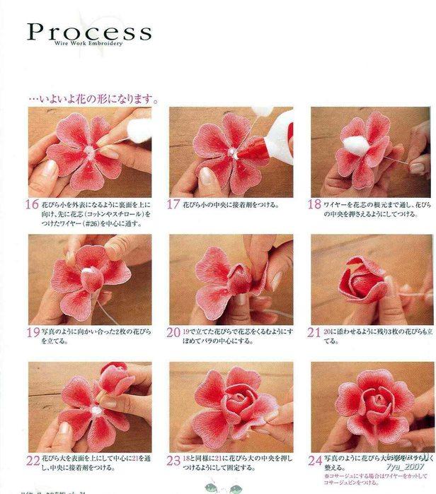 разница как вышить объемную розу котлеты