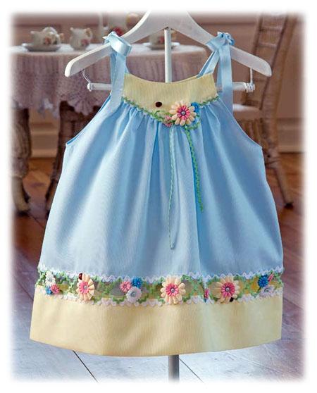 Украсить детское платье своими руками