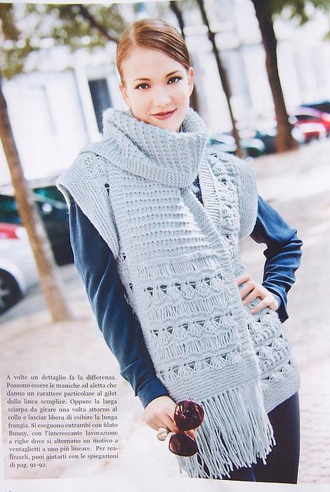 Описание: вязания шарфа хомута Схемы и узоры по.