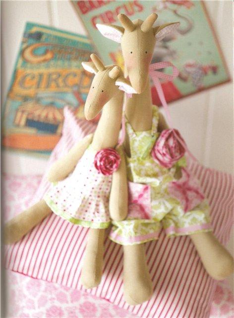 """Мягкие игрушки тильды - Слон и жираф  """" Womenn.net - портал для женщин."""