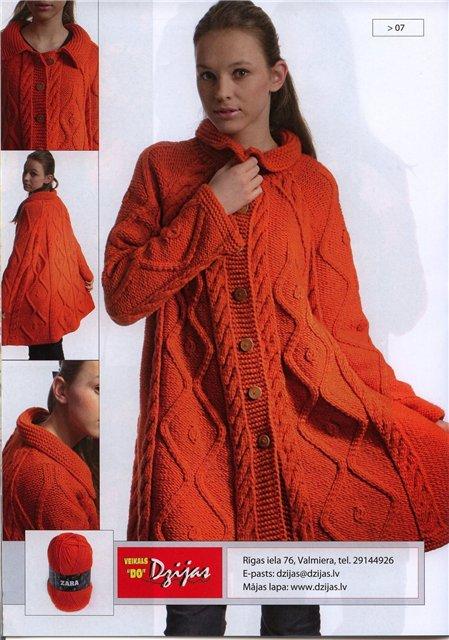 Вяжем длинное пальто, схема вязания пальто спицами. шапки вязанные...