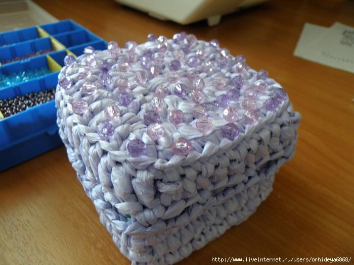 вязание из мусорных пакетов. крючком: Вязание из мусорных пакетов.