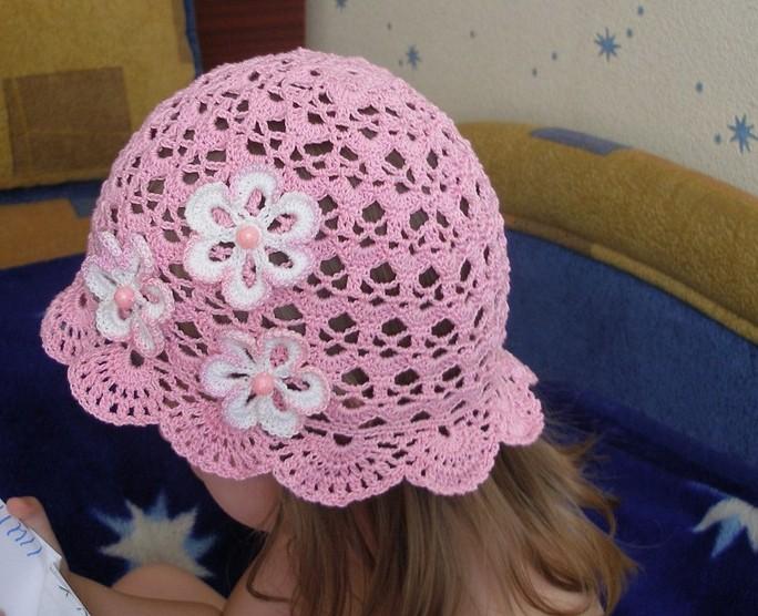схема вязания берета крючком для девочки.