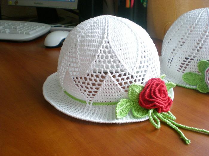Описание: вязание крбючком детских панамок и.