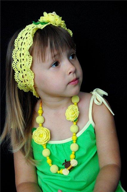 ...вяжем по схеме 1 полоску, длиннее чем окружность головы ребенка. http...