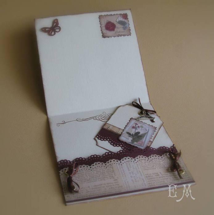 скрапбукинг открытки с конвертом внутри можем