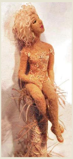"""свой цитатник или сообщество!  Валяная кукла  """"Карамельная тайна """" Юлиана..."""