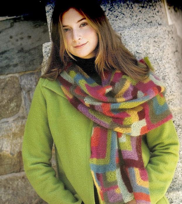 как связать шарф хомут описание - Шарф.