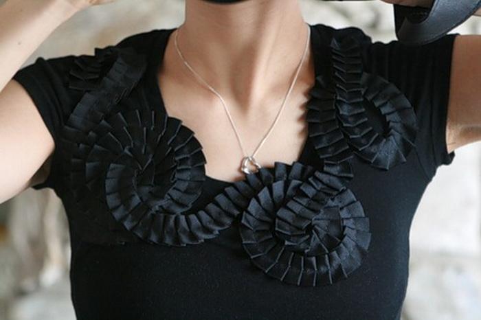 """Модные тенденции """" Мастер-классы по декорированию топа и пошиву кружевной юбки: топ,декорирование"""