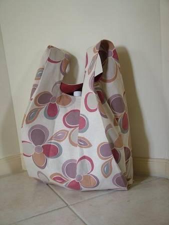 Выкройка этой сумки очень проста, а сумка получается вместительной.