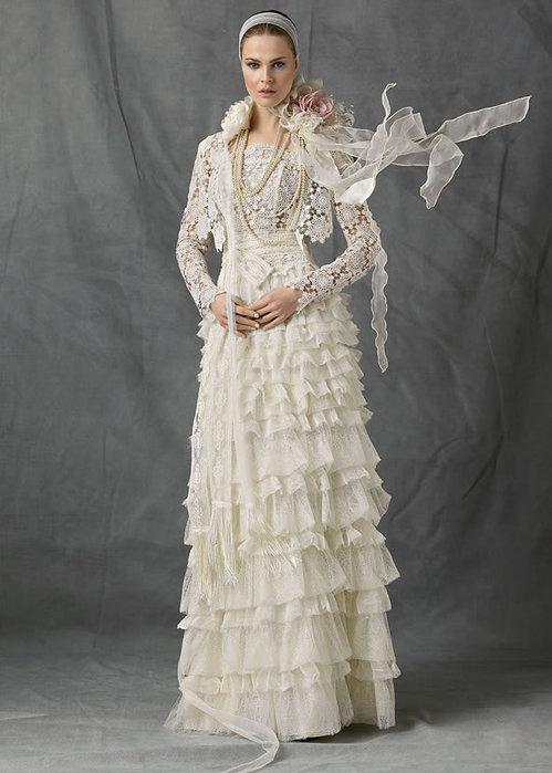вязанные свадебные платья фото.