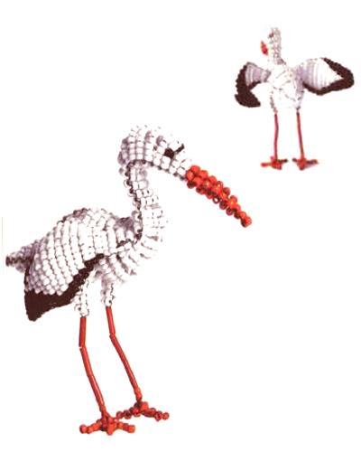 """""""Часть 1. Схема плетения зайца из бисера."""
