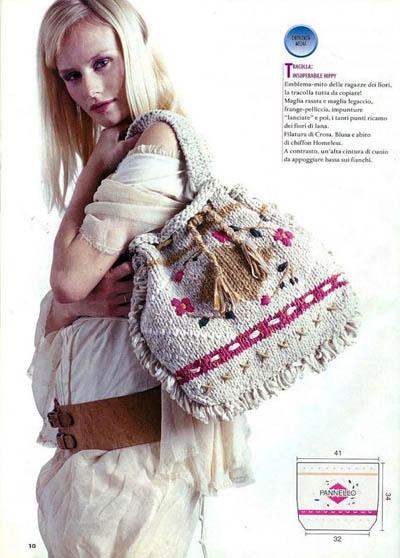 Шапка и шарф, жакет и сумка: спицы и крючок.  1. Иллюстрация.