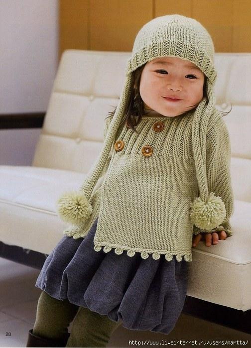 Вязание спицами для детей и схемы.