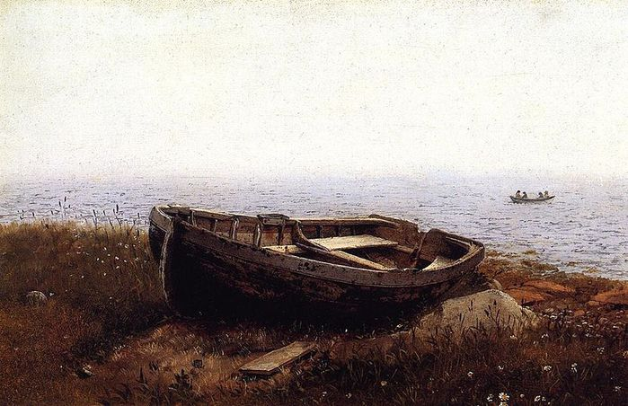 Frederic_Edwin_Church_(1826-1900)The_Old_Boat_Frederic_Edwin_Church_1850 Thyssen-Bornemisza Museum (700x452, 74Kb)