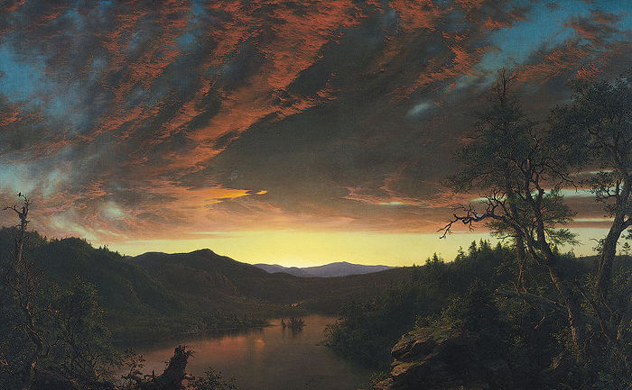 Frederic_Edwin_Church (1826-1900) Twilight_wilderness 1860 Cleveland Museum of Art (700x433, 77Kb)