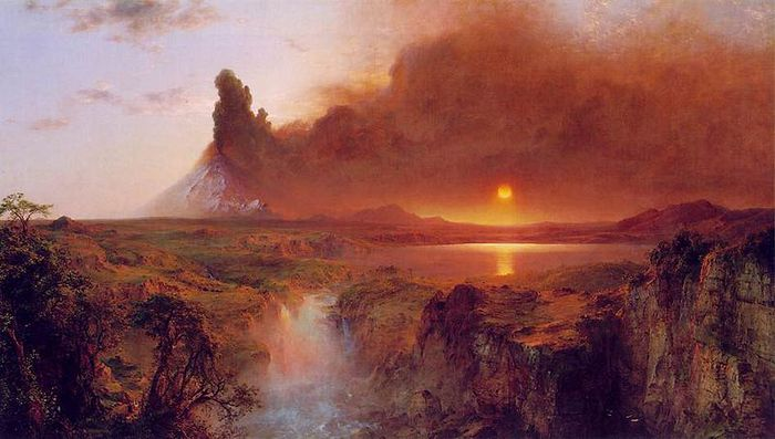 Frederic Edwin Church Cotopaxi_church 1862 A painting of Frederic Edwin Church, currently at Detroit Institute of Arts (700x397, 50Kb)