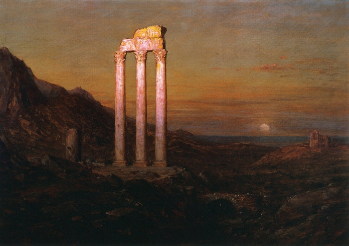 Frederic_Edwin_Church_(1826-1900)Moonrise _1889 Santa Barbara Museum of Art (700x495, 252Kb)
