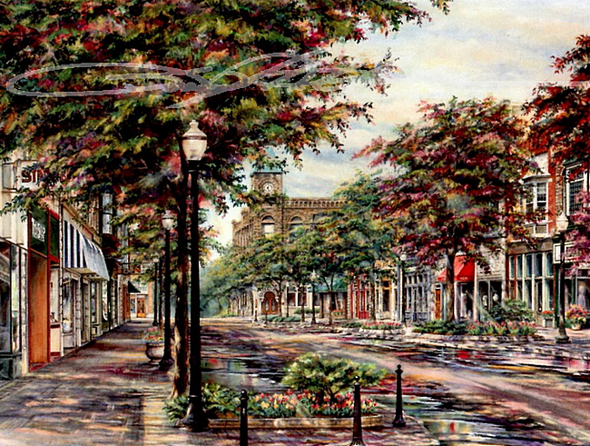 AFTERNOON ON 8TH STREET  Susan T Amidon (650x491, 862Kb)