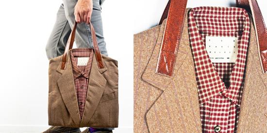 ...рубашки и пиджака на кожанных лямках - настоящий продукт вторичного...