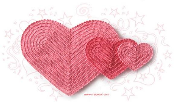 Рделать сердечки крючком схема, вязание крючком схемы для детей и...
