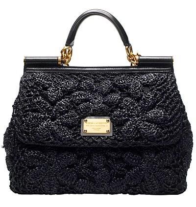 Модная вязанная сумка.  Вязанные сумки весна-лето 2011 от Dolce&Gabbana.