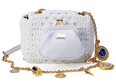 Часть 16...  Модная вязанная сумка.  Бисерная сумочка (крючок)