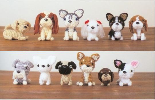 схема вязания игрушки собачки крючком
