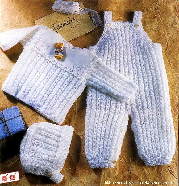 Схема вязанных штанишек до 0-3 месяцев