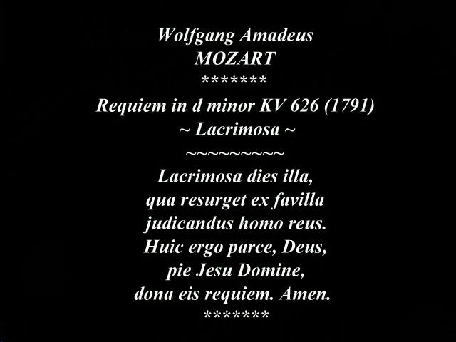 thesis statement is mozarts requiem mass 1 i owe an important correction of this statement to phil moore thought mozart's requiem mass would be no sense attaches to the thesis that what it is our.