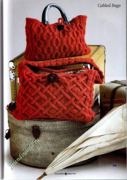 вязанные сумки спицами + фотографии. вязанные сумки спицами + фото.