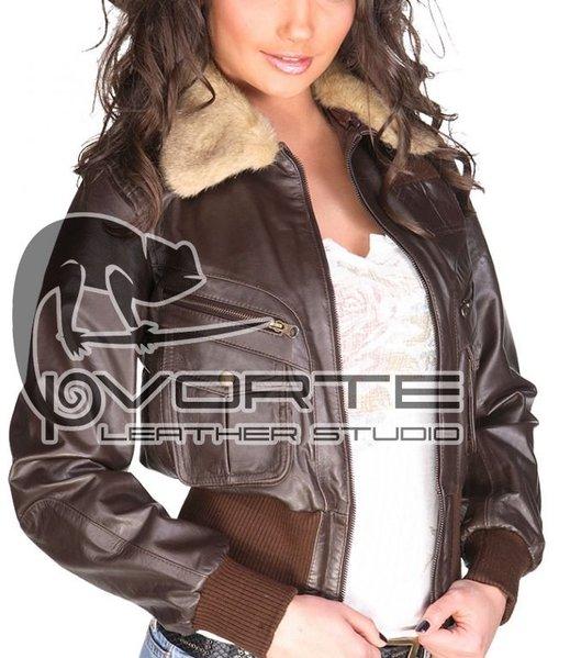 Женская кожаная куртка P.Vorte Leather Studio - Yeti jacket (Йети)