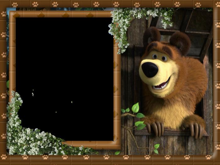 вставить фото в рамку маша и медведь имеет только