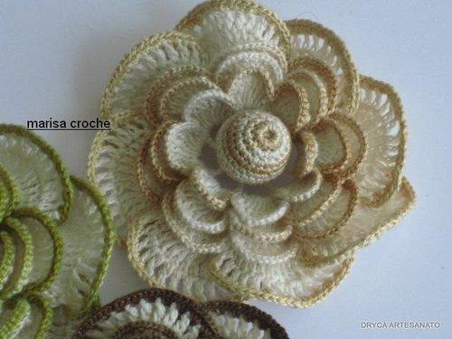 Вязаные розы.  Идеи, схемы.  Цветы крючком - схема в картинках как вязать.