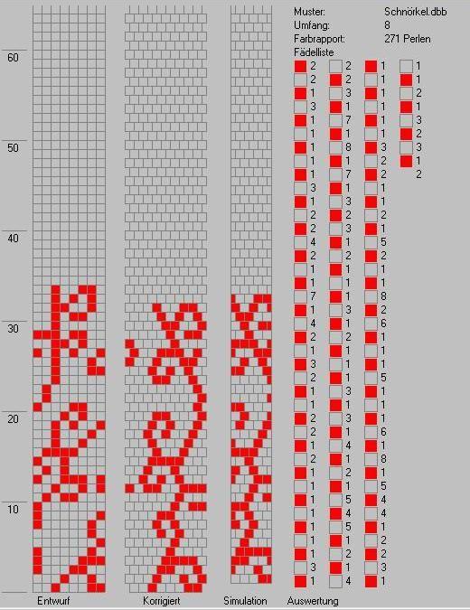 Часть 24.  Бисерное колье из жгута. схемы жгутов природа ч.2. источник.