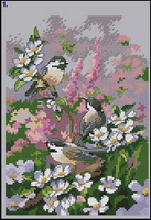 Dimensions 06884 Chickadees in Spring (137x200, 18Kb)