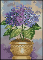 Dimensions 06959 Hydrangea in Bloom (144x200, 18Kb)