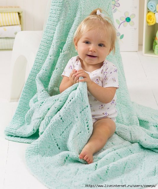 Soft & Snuggly Baby Blanket by Melissa Leapman (535x640, 258Kb)