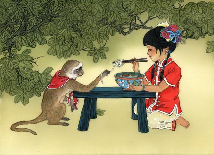 year of the monkey - girl -Noodles-El-Fresco (700x508, 110Kb)