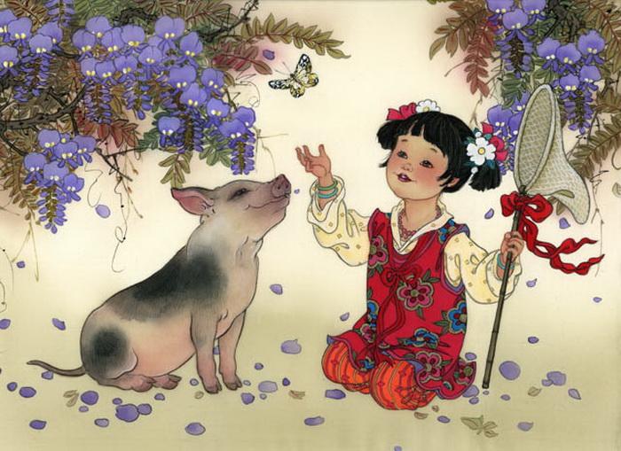 year of boar - girl - pure heart innocence (700x509, 152Kb)