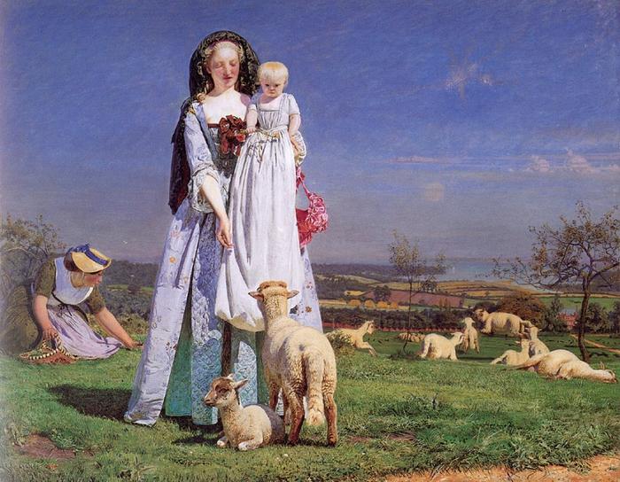 2010239_Ford_Madox_Brown_The_Pretty_Baa-Lambs_1851-59_Birmingham_Museums (700x544, 362Kb)